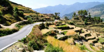 route paysage inde