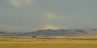 mountains rainbow mongolia