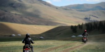 mongolia motorcycle steppe