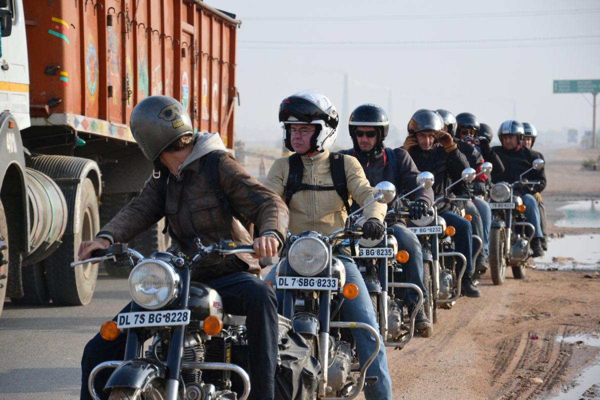 Conduire moto inde