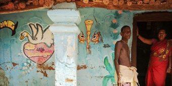 village paysan couple inde